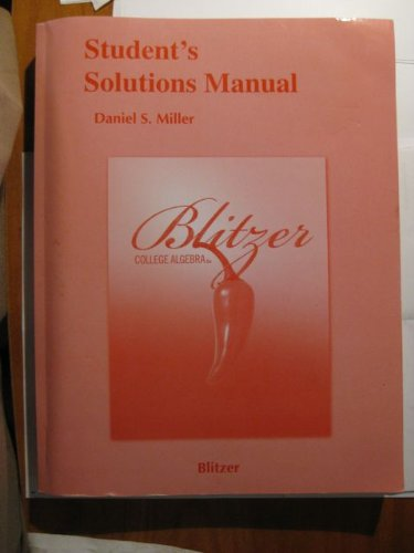 Student Solutions Manual for College Algebra  5th 2010 edition cover