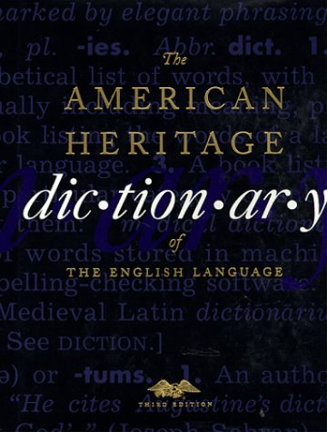 American Heritage Dictionary of the English Language  3rd 1996 edition cover