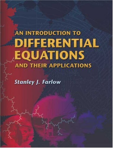 Introduction to Differential Equations and Their Applications   2005 9780486445953 Front Cover