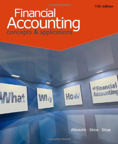 Financial Accounting  11th 2011 9780538746953 Front Cover