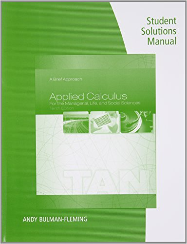 Applied Calculus for the Managerial, Life, and Social Sciences A Brief Approach 10th 2015 edition cover
