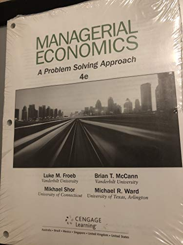 Managerial Economics  4th 2016 9781305628953 Front Cover