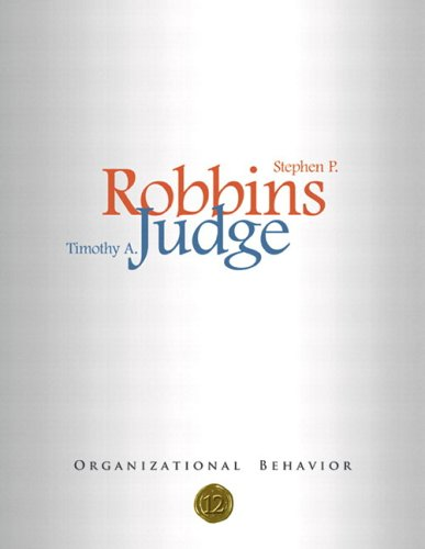 Organizational Behavior and SAL CD-ROM Pkg  12th 2007 9780131890954 Front Cover