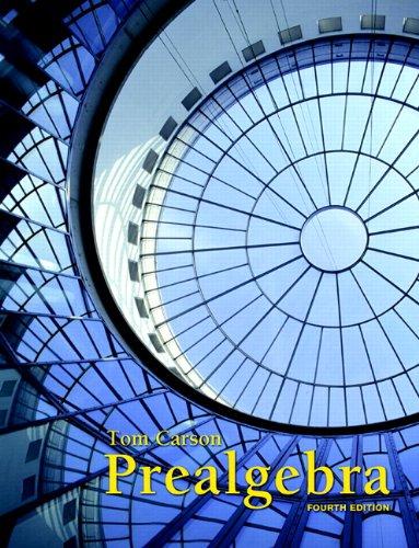 Prealgebra  4th 2013 edition cover