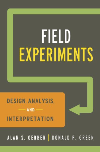 Field Experiments Design, Analysis, and Interpretation  2012 edition cover