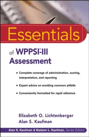 Essentials of WPPSI-III Assessment   2004 edition cover