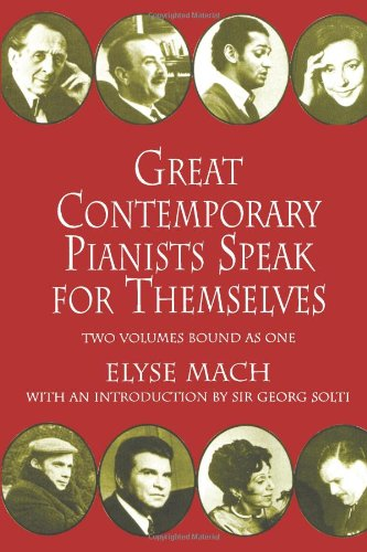 Great Contemporary Pianists Speak for Themselves   1991 edition cover