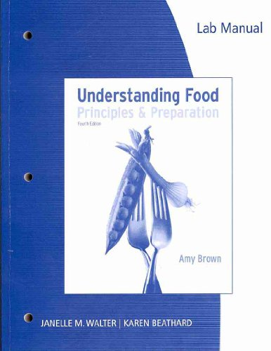 Lab Manual for Understanding Food, 4th  4th 2011 edition cover