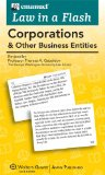 Emanuel Law in a Flash Card Corporations and Other Business Entities Student Manual, Study Guide, etc. edition cover