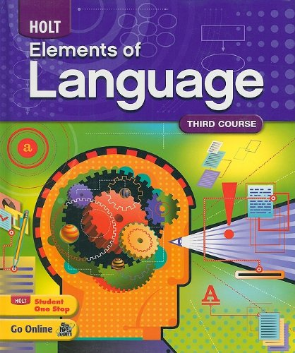 Holt Elements of Language   2009 9780030941955 Front Cover