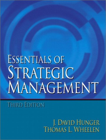 Essentials of Strategic Management  3rd 2003 9780130465955 Front Cover