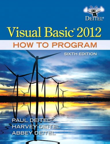 Visual Basic 2012 How to Program  6th 2014 edition cover