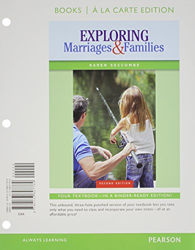 Exploring Marriages and Families Books a la Carte Plus NEW MySocLab with Pearson EText -- Access Card Package  2nd 2015 edition cover