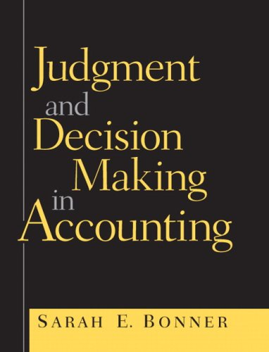Judgment and Decision Making in Accounting   2008 edition cover
