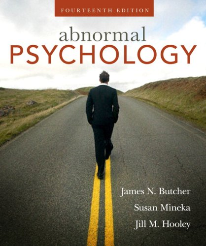 Abnormal Psychology Core Concepts 14th 2010 edition cover
