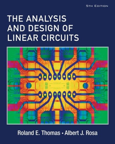 Analysis and Design of Linear Circuits  5th 2006 (Revised) 9780471760955 Front Cover