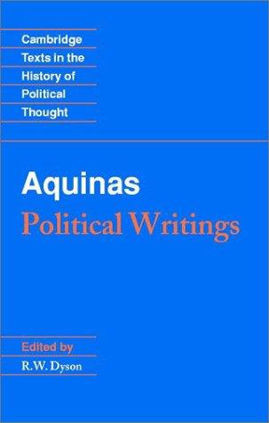 Aquinas Political Writings  2002 edition cover