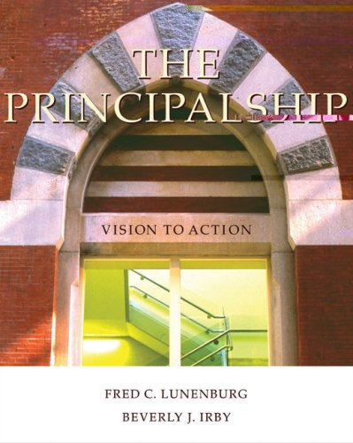 Principalship Vision to Action  2006 9780534625955 Front Cover