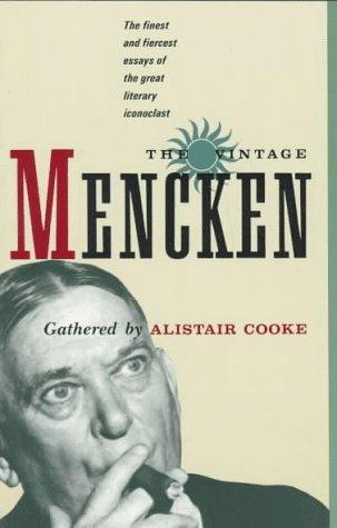 Vintage Mencken  N/A edition cover