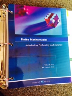 FINITE MATHEMATICS-W/SOLN.MAN.(LL)      N/A 9780738045955 Front Cover