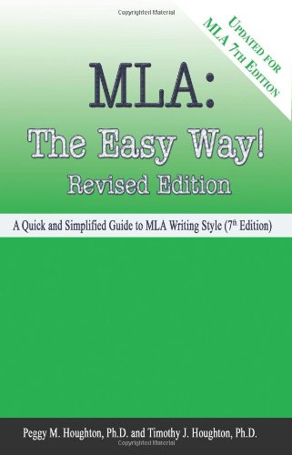 MLA : The Easy Way!  2008 edition cover