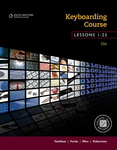 Keyboarding Course, Lessons 1-25: College Keyboarding  2013 edition cover