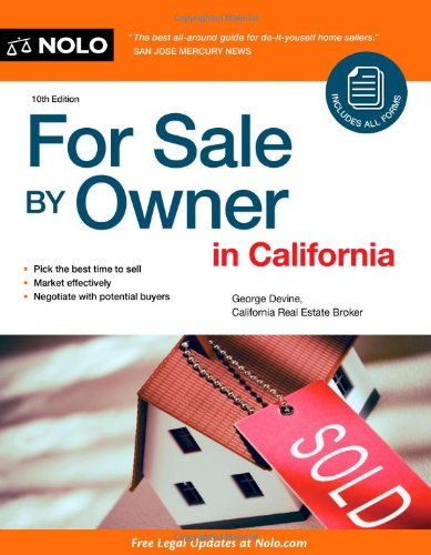 For Sale by Owner in California  10th 2010 (Revised) edition cover
