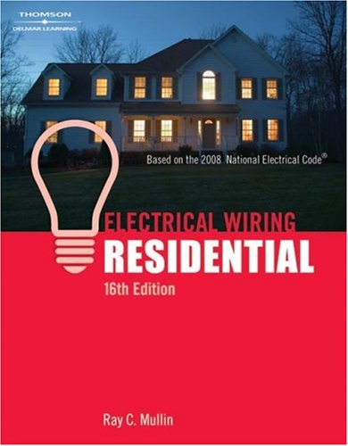 Electrical Wiring Residential  16th 2008 (Revised) edition cover