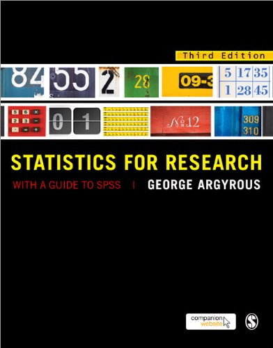 Statistics for Research With a Guide to SPSS 3rd 2011 (Revised) 9781849205955 Front Cover