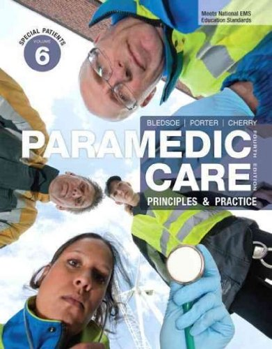 Paramedic Care: Principles and Practice  2012 edition cover