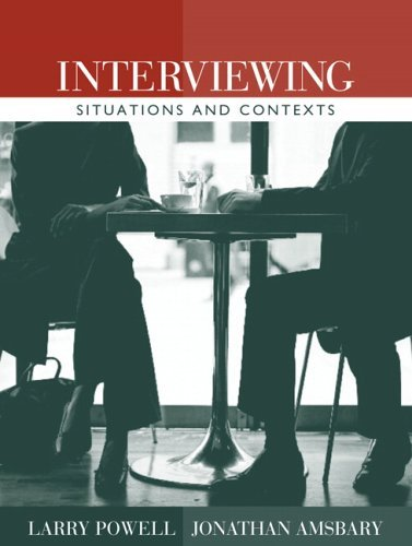 Interviewing Situations and Contexts  2006 edition cover