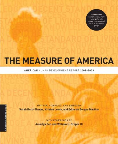 Measure of America American Human Development Report, 2008-2009  2008 9780231154956 Front Cover