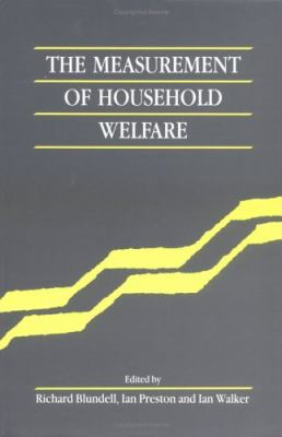 Measurement of Household Welfare   1994 9780521451956 Front Cover