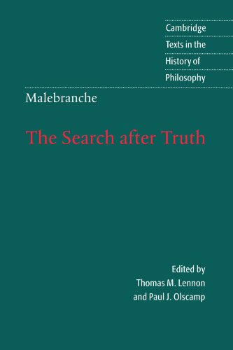 Malebranche - The Search after Truth With Elucidations of the Search after Truth  1997 9780521589956 Front Cover