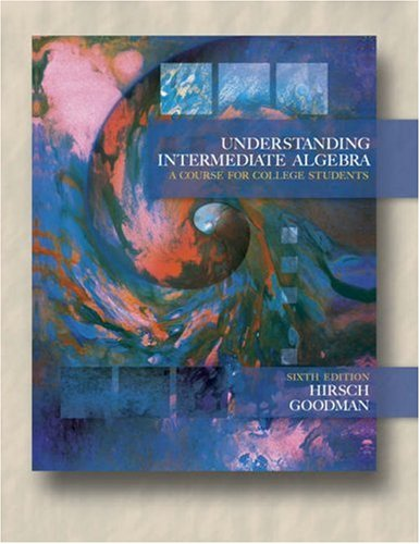 Understanding Intermediate Algebra A Course for College Students 6th 2006 (Revised) edition cover