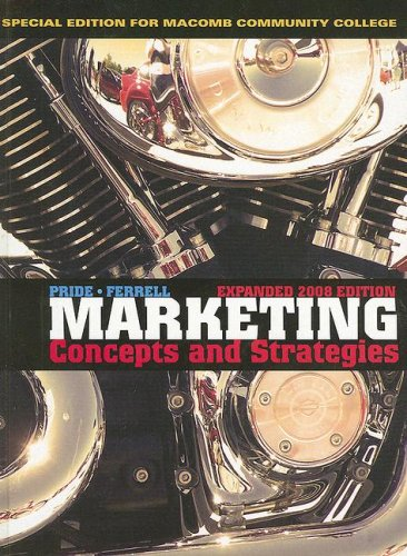 Marketing Paperback Fourteenth Edition with Original Material, Custompublication 14th 2008 9780618977956 Front Cover