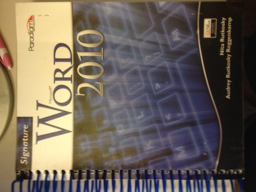 WORD 2010 SIGNATURE SERIES N/A edition cover