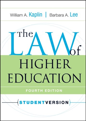 Law of Higher Education  4th 2007 (Student Manual, Study Guide, etc.) edition cover