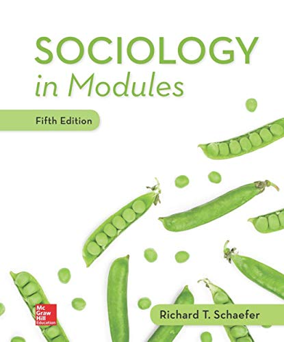 SOCIOLOGY IN MODULES                    N/A 9781260074956 Front Cover