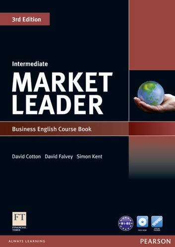 Market Leader Intermediate Coursebook and DVD-ROM Pack  3rd 2010 9781408236956 Front Cover