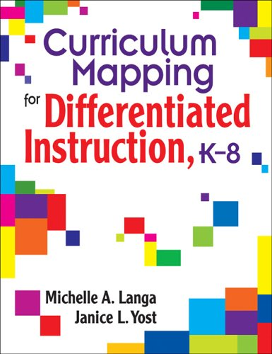 Curriculum Mapping for Differentiated Instruction, K-8   2007 edition cover