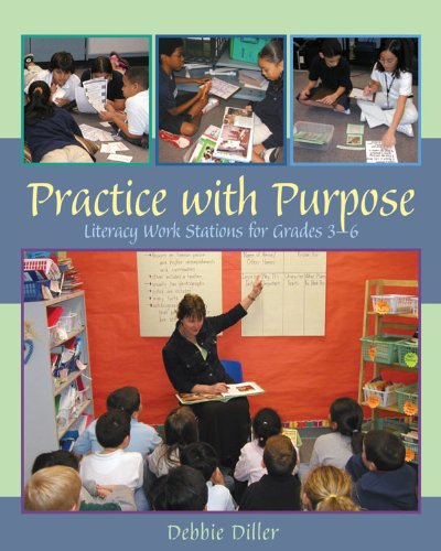 Practice with Purpose Literacy Work Stations for Grades 3-6  2005 edition cover