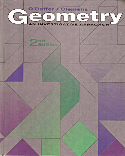 Geometry An Investigative Approach 2nd 1992 (Revised) edition cover