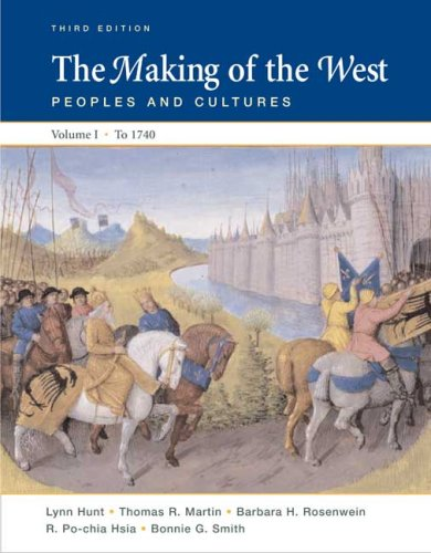 Making of the West 1740 Peoples and Cultures 3rd 2008 edition cover