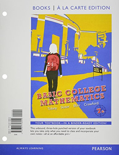 Basic College Mathematics  7th 2012 edition cover