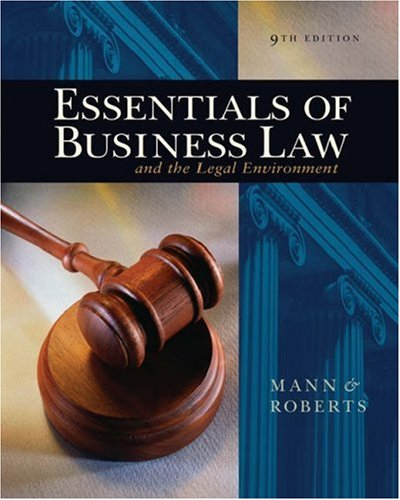Essentials of Business Law and the Legal Environment  9th 2007 (Revised) edition cover