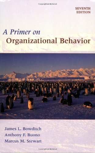 Primer on Organizational Behavior  7th 2008 (Revised) edition cover