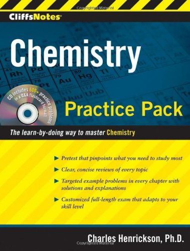 CliffsNotes Chemistry Practice   2010 (Workbook) 9780470495957 Front Cover