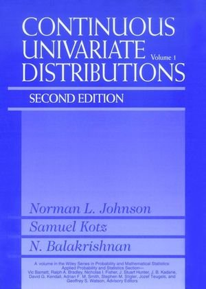 Continuous Univariate Distributions  2nd 1994 (Revised) 9780471584957 Front Cover