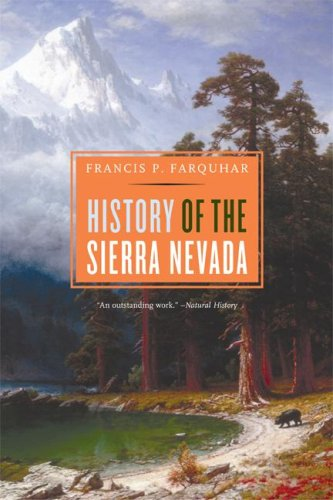 History of the Sierra Nevada  2nd 2007 edition cover